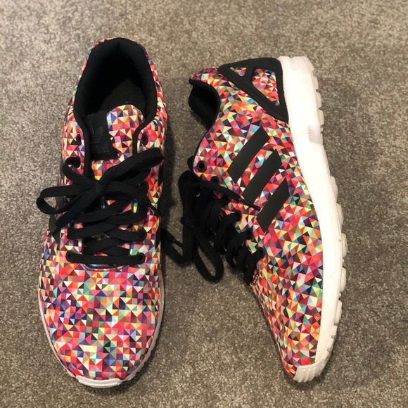 bd7109589 adidas Other - Men s Adidas ZX Flux Black Multi  PRISM  Sneakers